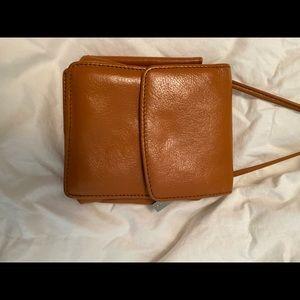 Hobo Mini Crossbody Bag & Wallet, Light Brown